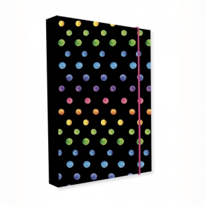 KARTON PP - Box na zošity A4 Jumbo Dots Colors